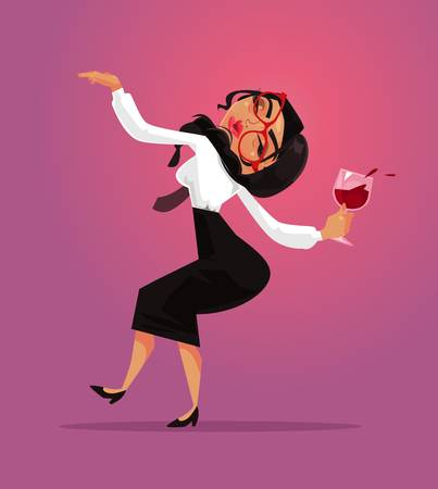 Drinking wine cartoon