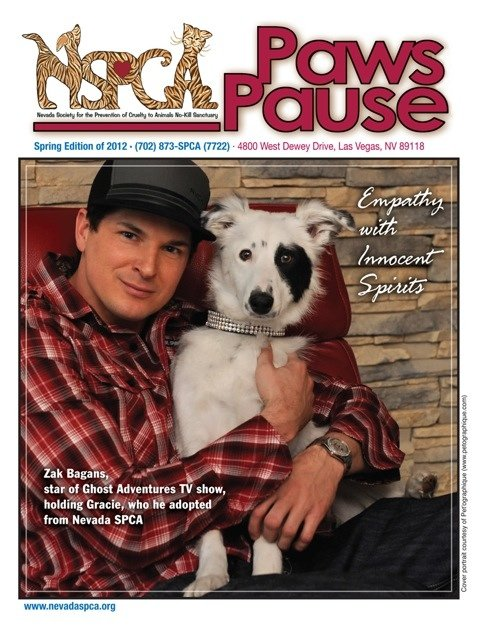 He adopted Gracie from his local aspca