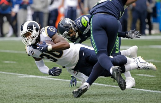 The Seahawks will try to hand the Rams their first loss this Sunday in Seattle