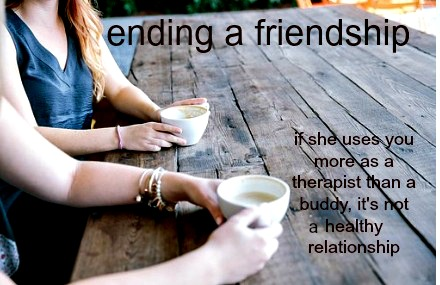 If a friend refuses professional help and instead relies on you, it's not a balanced relationship.