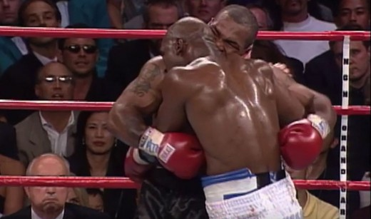 The 1997 boxing match between Holyfield and Tyson became infamous for the latter's biting off Holyfield's ear.  Just like with Khabib and McGregor, fights also broke out afterwards.
