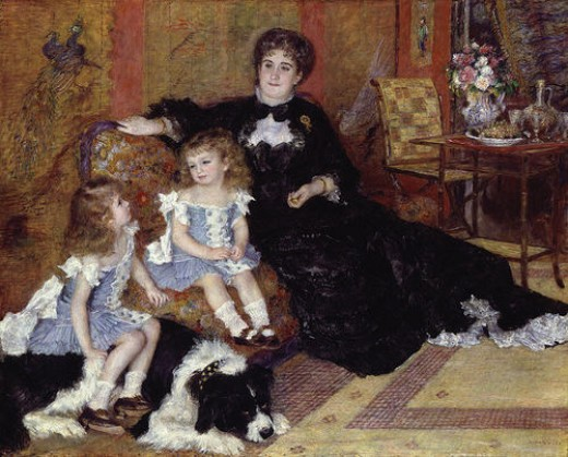 """MADAME CHARPENTIER AND HER CHILDREN"" BY RENOIR (1878) IS IN THE METROPOLITAN MUSEUM OF ART IN NEW YORK CITY"