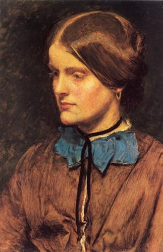 Portrait of Annie Miller  John Everett Millais  circa 1854