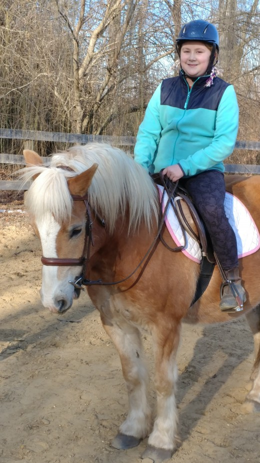 Dunkin, purchased as a pony ride pony. Attempted to turn him into a lesson pony. Turns out he is best in a one owner situation, so that is what I found for him. He lives happily ever after!