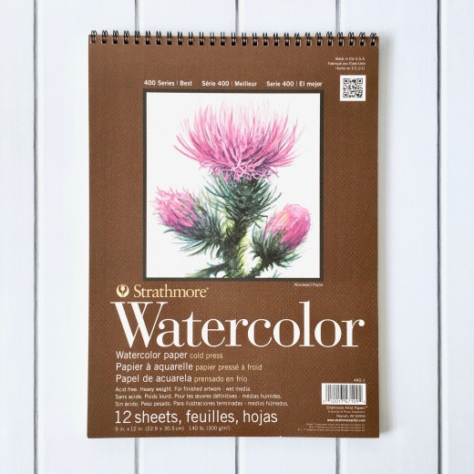Strathmore 400 Series Watercolor Pad - One of my favorites for watercolor painting.