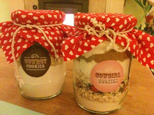 Cookie gift in a jar