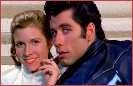 Carrie Fisher was considered for the role of Sandy in Grease.  She could have ended up in John Travolta's arms instead of Han Solo's.