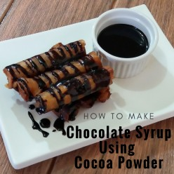 How to Make Chocolate Syrup Using Cocoa Powder For Various Desserts