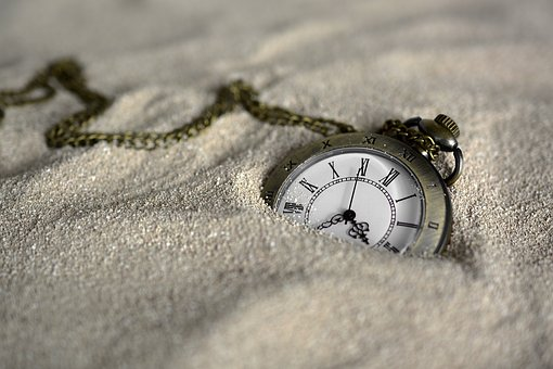 The sands of time just keep ebbing away.