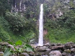 A waterfall in Bukidnon (http://en.wikipedia.org/wiki/Bukidnon)