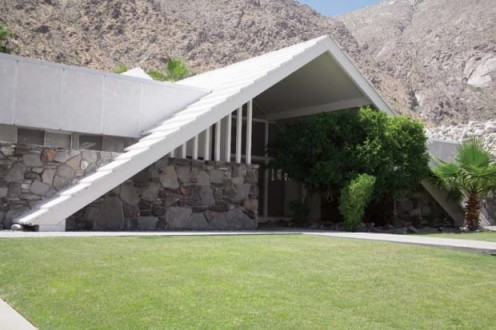 "A Palm Springs A-Frame ""Swiss Miss"" house in Las Palmas Estates."