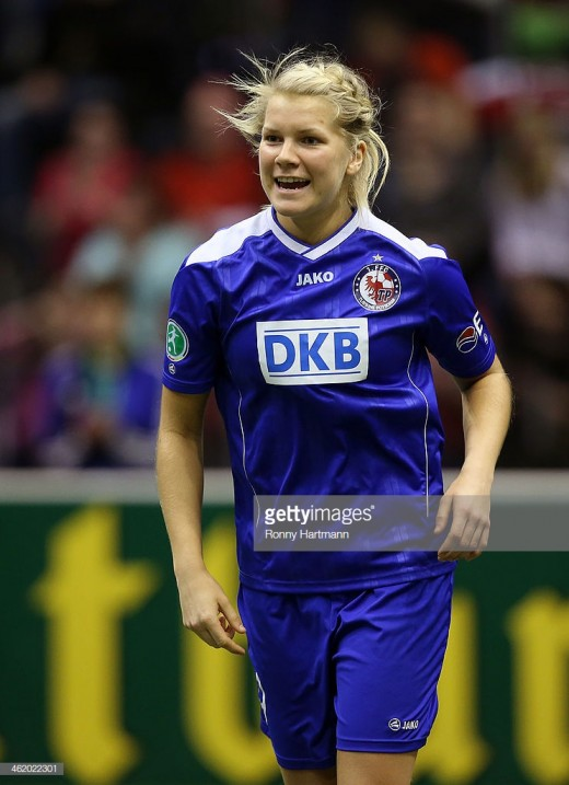 Hegerberg played between 2013 to 2014 at Turbine Potsdam