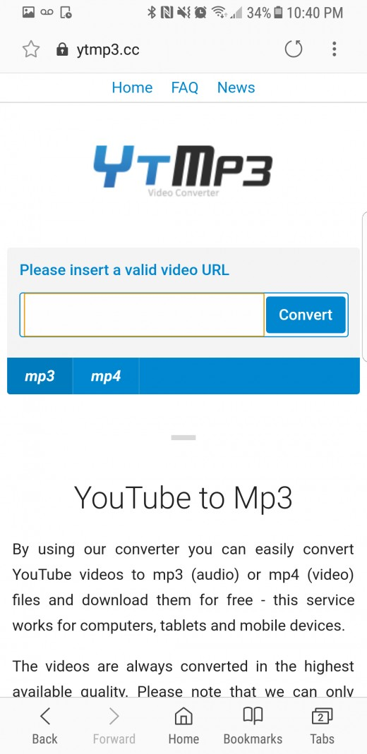 Just type the link to your YouTube video, convert, then hit the download button when prompted.