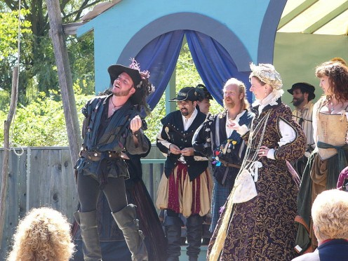 Some church groups sponsor Renaissance Faires, instead of Halloween Parties, based on fairs such as this one in New York.