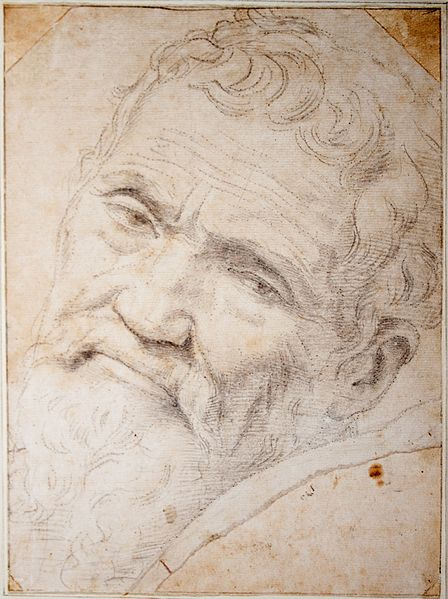 Michelangelo, full name Michelangelo di Lodovico Buonarroti Simoni, was a wonderful artist and sculptor. In this image it is only just possible to see the injury to his nose inflicted by the jealous Torregiano.