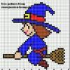 A cute little witch to stitch.
