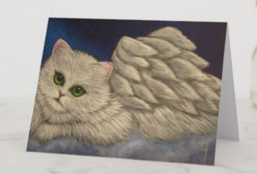 I simply love this WHITE PERSIAN ANGEL CAT HOLIDAY. It is so soft and majestic.