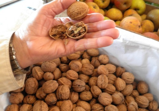 Walnuts are traditionally eaten at Christmas.