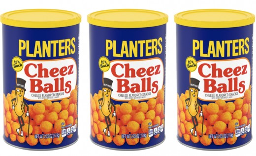 In 2000, Planters Cheez Balls were a crowd-pleaser.