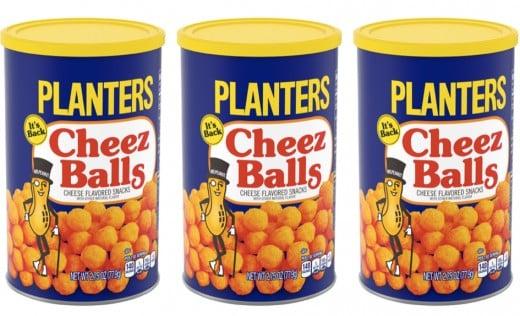 In 2000, Planters Cheez Balls were a crowd-pleaser.