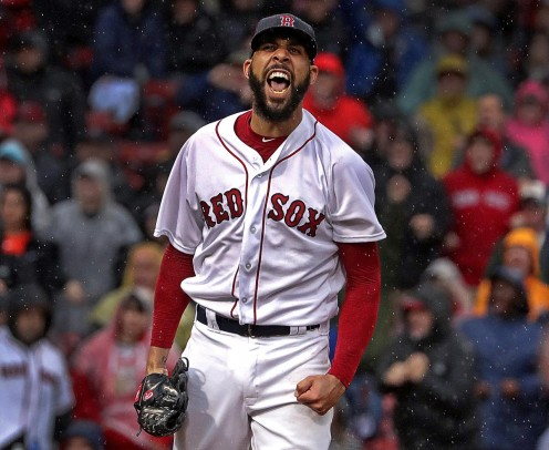David Price, one of the winning  Red Sox pitchers.