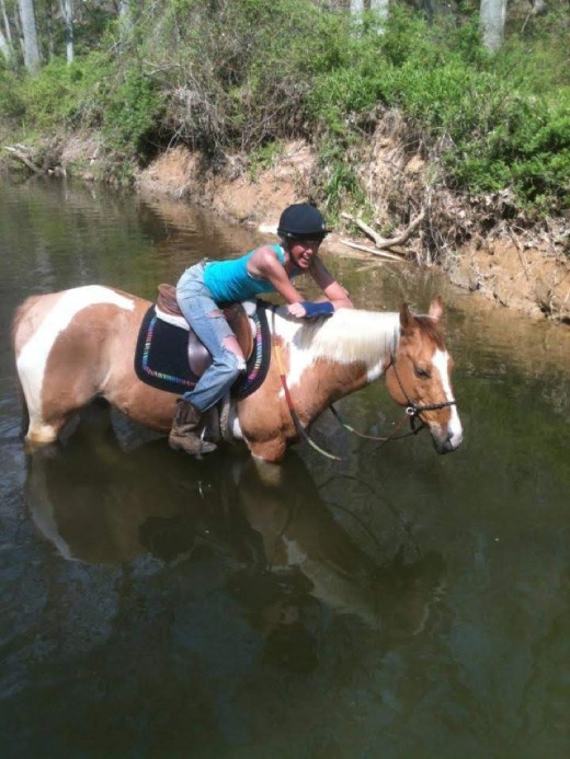 There is no better life than a life with horses! P.S- Do as I say and not as I do, don't ride with your arm in a cast :-)