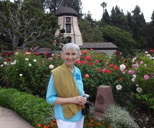 Linda Sue Grimes at SRF Windmill Chapel, Lake Shrine