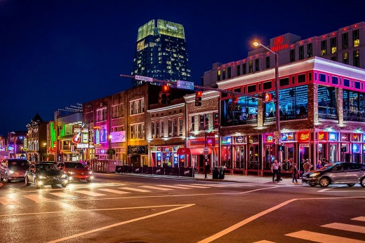 Broadway in Nashville