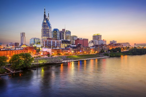 Nashville on th Cumberland River