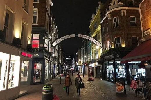 Carnaby Street at night