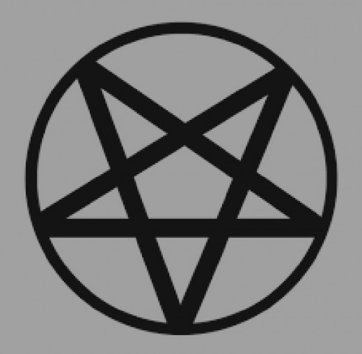 Reversed/Inverted pentagram similar to the one on the dining room floor