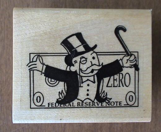 monopoly man custom stamp