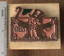 monopoly man custom stamp actual height