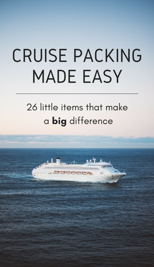 These essential items will take the stress out of packing for a cruise!