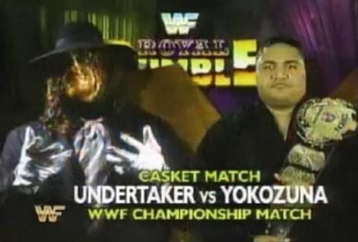 The Undertaker vs. Yokozuna Match at Royal Rumble 1994