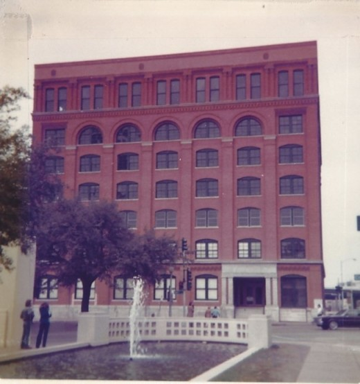 The Book Depository in Dallas where Lee Harvey Oswald first the shots that murdered President John F, Kennedy.  January 1981,