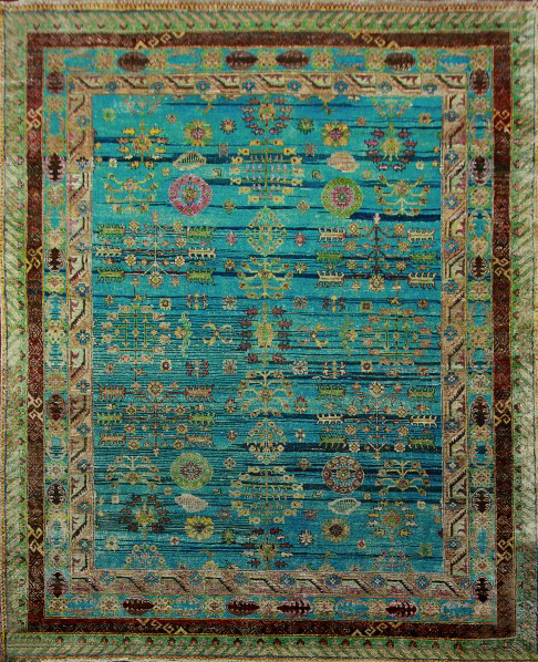 Real silk rugs have luster and detail that is unique.