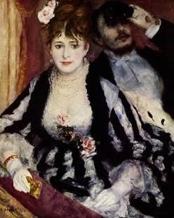 Igcse Analysis of 'La Loge' by Pierre-Auguste Renoir