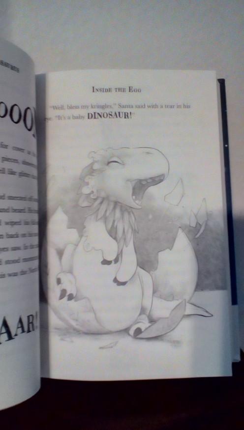 The dinosaur hatches!