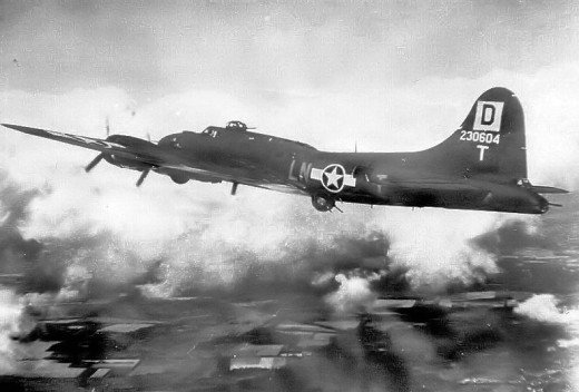 B-17 of the 350th Bombardment Squadron, 100th Bombardment Group
