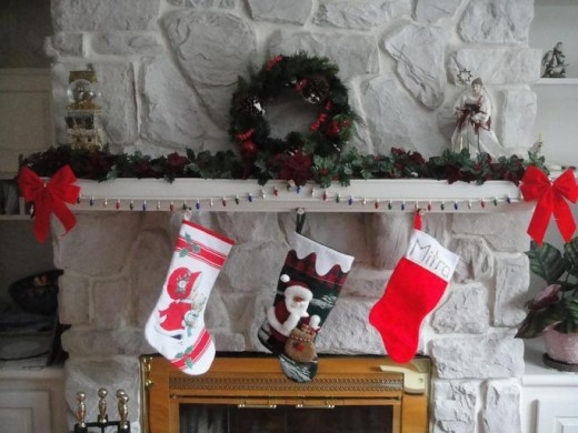 The stocking were hung by the chimney with care.