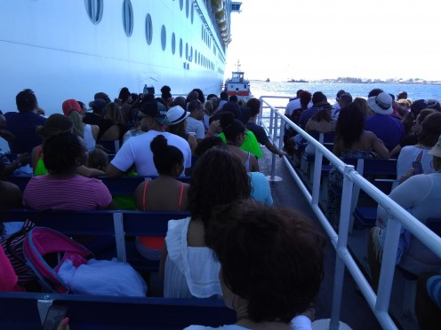 Being tendered from ship to island