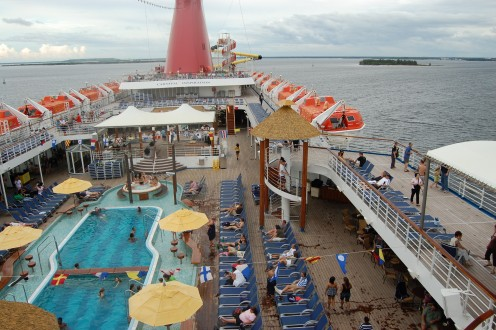 Pool Deck on Carnival Inspiration