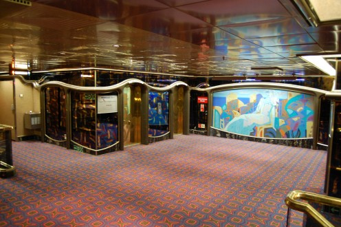 Staircase area on Carnival Inspiration