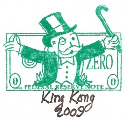 monopoly man custom stamp with hand signature