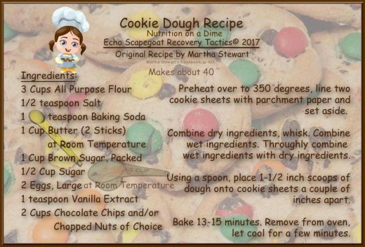 Adapted Master Cookie Dough Recipe