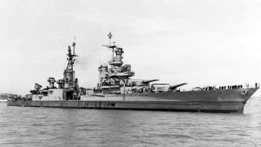 In 2017, the USS Indianapolis was re-discovered by civilian researchers 8,000 feet below the Pacific surface.