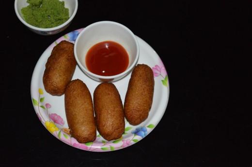 Bread vegetable rolls