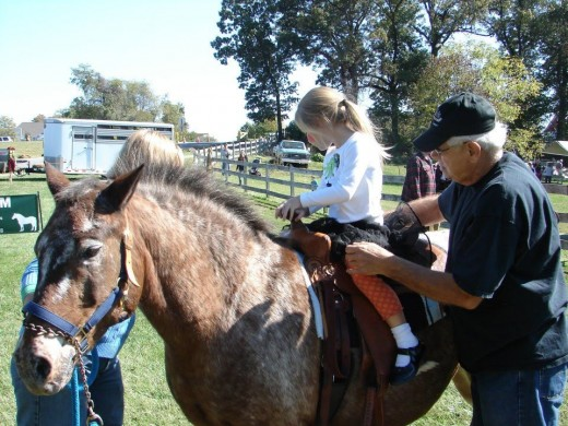 Whether they are taking pony rides or riding lessons, we are thankful for enthusiastic clients.
