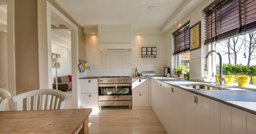A Kitchen with no soft furnishings